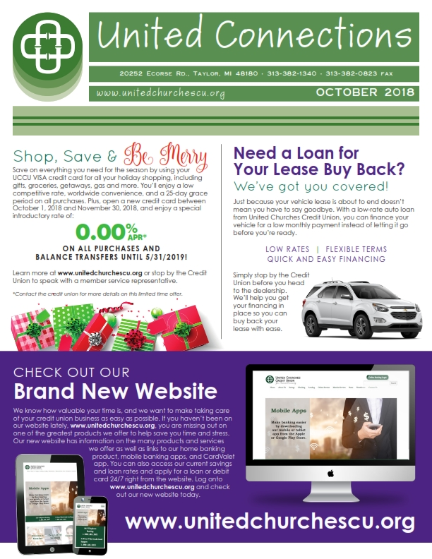 newsletters united churches credit union taylor mi