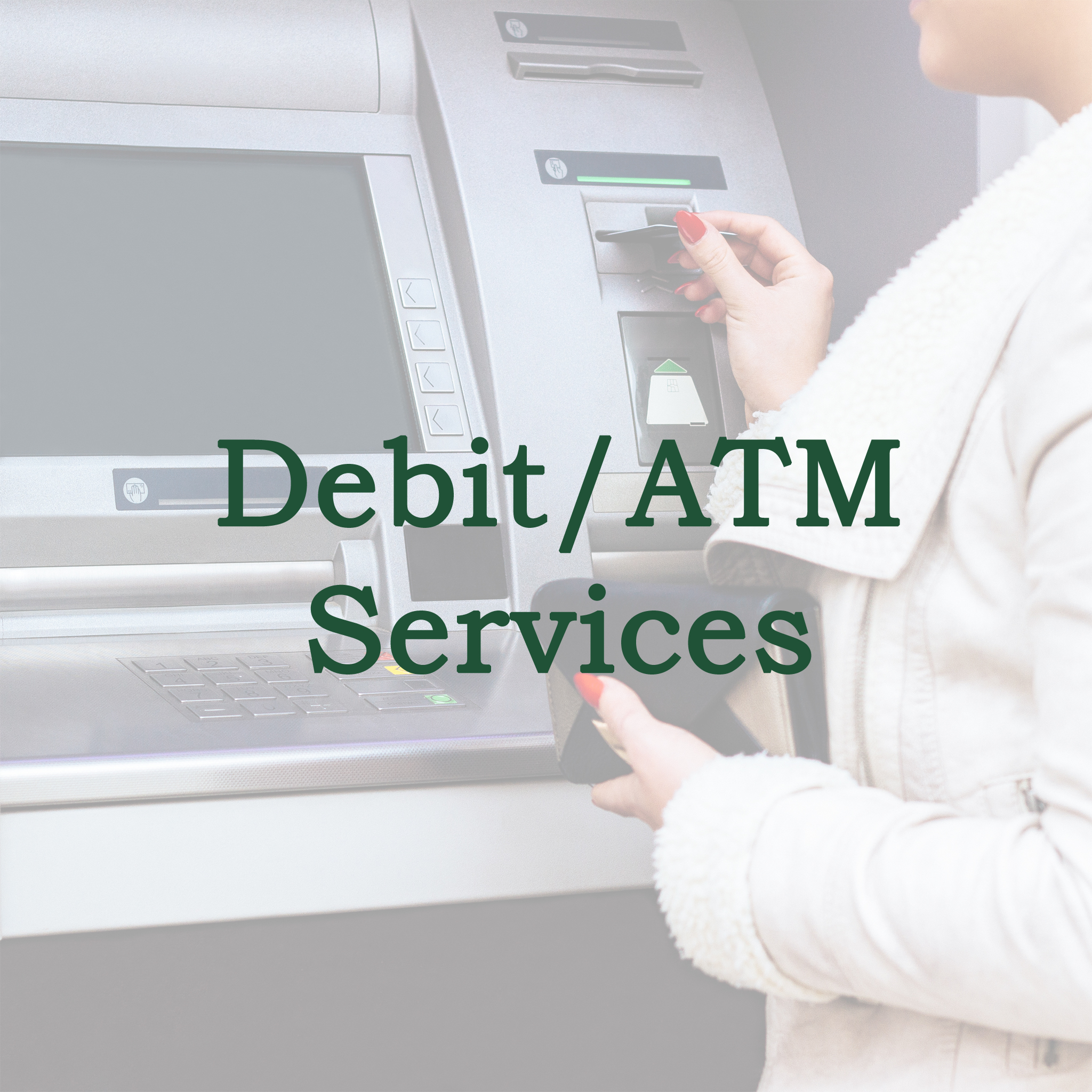 image link to the Debit and ATM card application